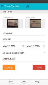 Trade Tickets App